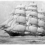 The Clippership Taeping Under Full Sail Art Print