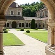 The Cloister Courtyard - Cloister Fontenay Art Print