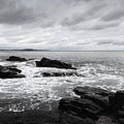 The Cloudy Day In Acadia National Park Maine Art Print