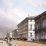 The Club Houses, Pall Mall, 1842 Art Print by Thomas Shotter Boys
