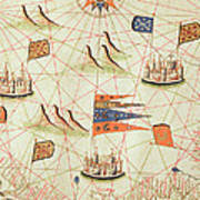 The Coast Of Tunisia And The Gulf Of Gabes, From A Nautical Atlas Of The Mediterranean And Middle Art Print