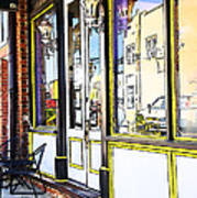The Coffee Shop Print by Jim  Calarese