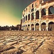The Coliseum In Rome Art Print