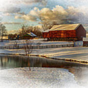 The Color Of Winter Print by Kathy Jennings
