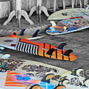 The Colorfulness Of Surfing Art Print