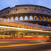 The Colosseum-blue Hour Art Print