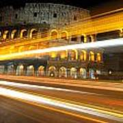 The Colosseum Lights Art Print