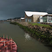 The Columbia River Maritime Museum Sits Art Print