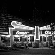 The Comet Roller Coaster - St Louis 1950 Art Print