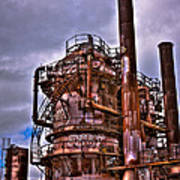The Compressor Building At Gasworks Park - Seattle Washington Art Print by David Patterson