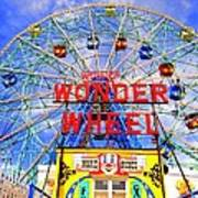 The Coney Island Wonder Wheel Art Print