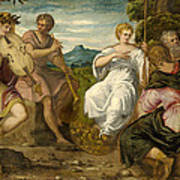 The Contest Between Apollo And Marsyas Art Print