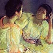 The Conversation Art Print by Mary Stevenson Cassatt