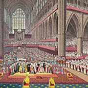 The Coronation Of King William Iv And Queen Adelaide, 1831 Colour Litho Art Print