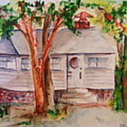 The Cottage In The Highlands Art Print