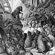 The Council Held By The Rats Art Print by Gustave Dore