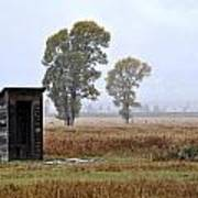 The Country Outhouse Art Print