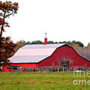 The Country Red Barn Art Print
