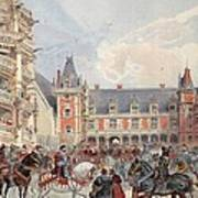 The Court In Chateaus Of The Loire Art Print