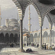 The Court Of The Mosque Of Sultan Art Print
