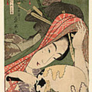 The Courtesan Tsukasa From The Ogiya House Tanabata. Star Festival  Art Print
