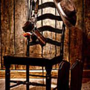 The Cowboy Chair Art Print