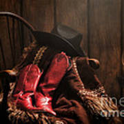 The Cowgirl Rest Art Print by Olivier Le Queinec