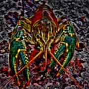 The Crawdad Digital Art Art Print