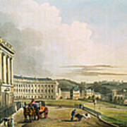 The Crescent, From Bath Illustrated Art Print by John Claude Nattes