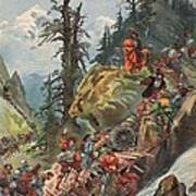 The Crossing Of The Alps, Illustration Art Print