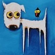 The Crow And The Dog Art Print