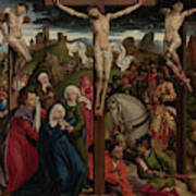 The Crucifixion Dreux Budé Master, Possibly André Dypres Art Print