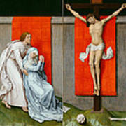 The Crucifixion With The Virgin And Saint John The Evangelist Mourning Art Print