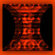The Curtain - Orange  Art Print