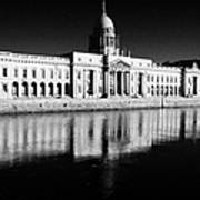 The Custom House Reflected In The River Liffey First Of Dublins Public Buildings Architect Was James Gandon Art Print