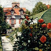 The Dahlias Garden At Petit Gennevilliers Art Print