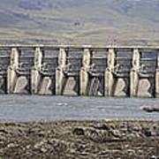 The Dalles Dam Along Columbia River Art Print