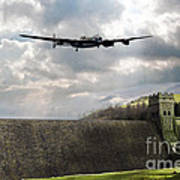 The Dambusters Over The Derwent Art Print