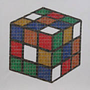 The Dammed Cube Art Print
