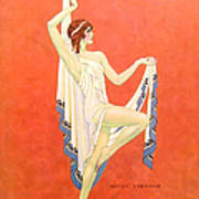 The Dance 1929 1920s Usa Nitza Vernille Art Print by The Advertising Archives