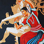 The Dance Divine Of Odissi Art Print
