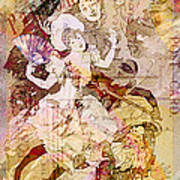 The Dancer And The Pierrot Art Print