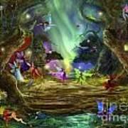 The Dancing Auroras Art Print