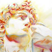 The David By Michelangelo. Tribute Art Print