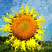 The Day Of The Sunflower Art Print by Lorraine Heath