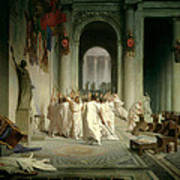The Death Of Caesar Art Print