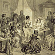 The Death Of Evangeline, Plate 6 Art Print