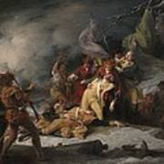 The Death Of General Montgomery In The Attack On Quebec, December 31, 1775, 1786 Oil On Canvas Art Print