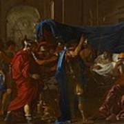 The Death Of Germanicus Art Print by Nicolas Poussin