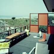 The Deck Of A Beach House Art Print